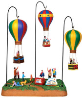 Lemax 44763 SKY-HIGH PARK Carnival Ride Amusement Park Balloon Rides Village bcg