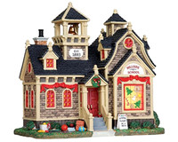 Lemax 25342 HILLSIDE SCHOOL Lighted Building Christmas Village Decor S Scale bcg
