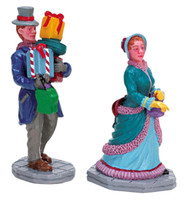Lemax 72383 OUT SHOPPING Set of 2 Figurines Retired Christmas Village Figure G Scale bcg