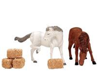 Lemax 12511 FEED FOR THE HORSES Set of 6 Figurines Christmas Village Figures bcg