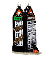 Lemax 44739 SPOOKY PHONEBOOTH Spooky Town Accessories Phone Booth Halloween bcg