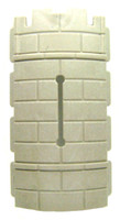 Playmobil 3666 Castle Parts Tower ROUND WALL WITH SLOT Kings Medieval Knights bcg