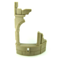 Playmobil 3839 Wizard's Workshop Part WALL CURVED DILAPIDATED UPPER Knights bcg