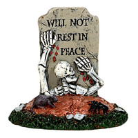 Lemax 74219 ESCAPE FROM A GRAVE Spooky Town Accessory Figurine Halloween Decor bcg