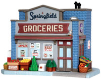 Lemax 35575 SPRINGFIELD GROCERIES Jukebox Junction Building Christmas Village bcg