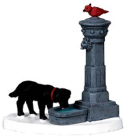 Lemax 04231 WATER FOUNTAIN Christmas Village Accessory bcg
