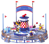 Lemax 74703 JUNIOR FLIGHT SCHOOL Carnival Ride Amusement Park Village Fair bcg