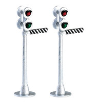 Lemax 74279 RAILWAY SEMAPHORE SIGNAL Set of 2 Christmas Village Accessory bcg