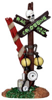 Lemax 24464 ROTTEN RAILROAD CROSSING Spooky Town Accessory Halloween Decor bcg