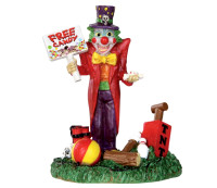 Lemax 32102 FREE CANDY CLOWN Spooky Town Figure Halloween Decor Figurine bcg