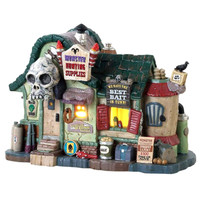 Lemax 85311 MONSTER HUNTING SUPPLIES Spooky Town Building Halloween Décor bcg