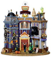 Lemax 05008 SPOOKY TOWNE SQUARE Spooky Town Lighted Building Retired Halloween bcg