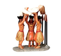 Lemax 02785 RITUAL SACRIFICE Figurine Spooky Town Retired Halloween Decor bcg