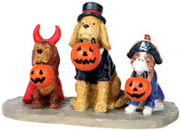 Lemax 12887 TRICK OR DOG TREATS Spooky Town Figurine Halloween Decor Figure bcg