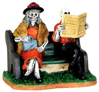 Lemax 42205 REALLY LATE TRAIN Spooky Town Figurine Halloween Decor Figure bcg