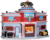 Lemax 25406 CRUISIN' CAFE Jukebox Junction Christmas Village Building '50s S O bcg