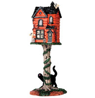 Lemax 64051 HAUNTED BIRDHOUSE Spooky Town Accessories Halloween Decor bcg