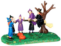Lemax 43065 BROOM RACE Spooky Town Table Accent Retired Halloween Decor bcg