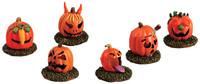 Lemax 52117 PUMPKIN PEOPLE Set of 6 Spooky Town Accessories Halloween Decor bcg