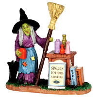 Lemax 42213 SPELLS, POTIONS & MORE Spooky Town Figurine Halloween Decor Figure bcg