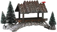 Lemax 14618 WOODEN BRIDGE WITH TREES Christmas Village Retired Accessory bcg