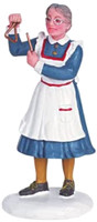 Lemax 62263 CHOWTIME! Figurine Christmas Village Retired Figure Woman Lady bcg