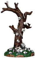 Lemax 33003 SKELETON TREE Spooky Town Table Accent Halloween Decor bcg