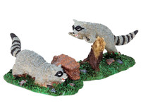 Lemax 82468 RABID RACOONS Spooky Town Figurine Retired Halloween Decor Figure bcg