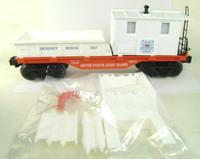 Lionel US COAST GUARD RESCUE CABOOSE O/O27 Scale Medical Train Car Brand New bcg