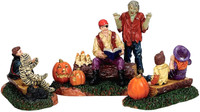 Lemax 72485 STORYTIME SCARES Spooky Town Figurine Set of 3 Halloween Figure bcg