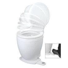 Jabsco Lite Flush Electric 24V Toilet w/Footswitch 58500-0024