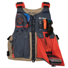 Onyx Kayak Fishing Vest - Adult Universal - Tan/Grey 121700-706-004-17
