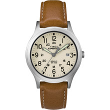 Timex Expedition Mid-Size Leather Watch - Cream Dial TW4B11000JV