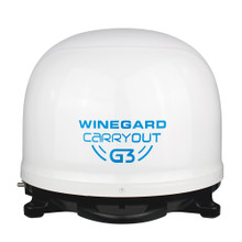 Winegard Carryout G3 Automatic Portable Satellite TV Antenna - White