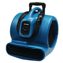XPower X-830h 1 HP 3,600 CFM 3-Speed Commercial Air Mover/Carpet Dryer/Floor Blower Fan