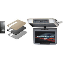 "Power Acoustik PMD-90 9"" Ceiling-Mount Swivel DVD Entertainment System (Car) with IR & FM Transmitters & 3 Interchangeable Skins"