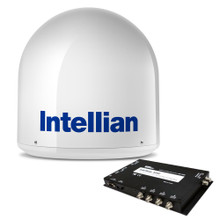 Intellian i2 US Satellite TV System w/DISH/Bell MIM Switch, RG6 Cable, & DISH HD Receiver