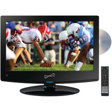 "Supersonic SC-1512 15.6"" 720p LED TV/DVD Combination, AC/DC Compatible with RV/Boat"