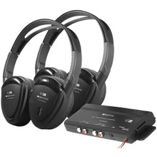Power Acoustik  HP-902RFT 2-Channel RF 900MHz Wireless Headphones - 2 Sets