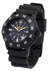 UZI Protector Swiss Tritium Men's Watch - Black -Rubber UZI-001-R