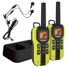 Uniden 40 Mile FRS/GMRS Two-Way Radio w/Li-Ion Charger & Headsets - 2PK