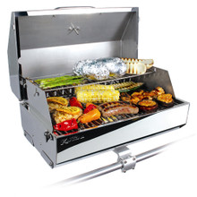 """Kuuma 216 Elite Gas Grill 58155 - 216"""" Cooking Surface - Stainless Steel"""