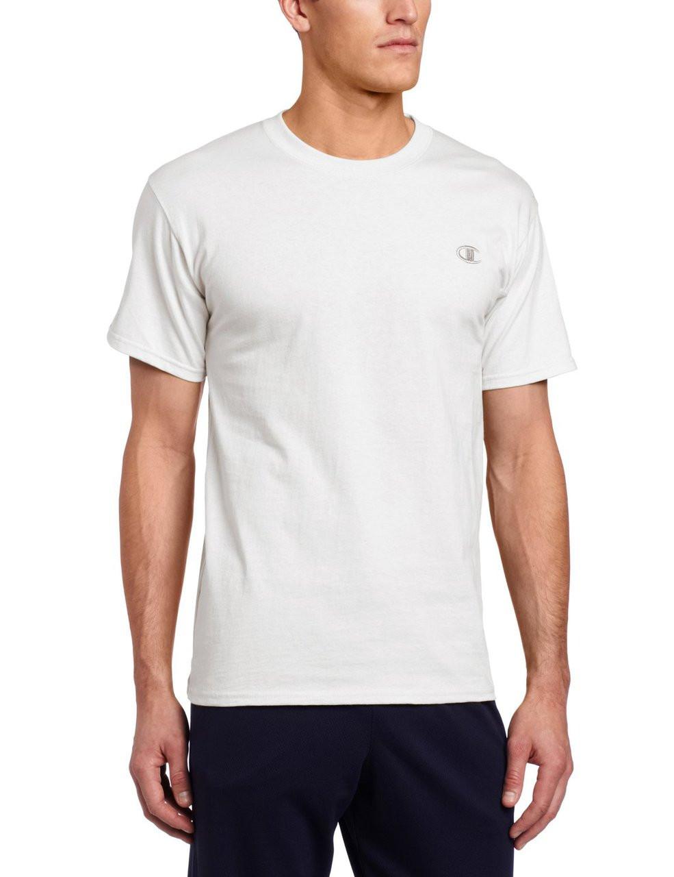 50dfcb46 Champion Men's Jersey T-Shirt - WHITE - TOPSHOPPING USA