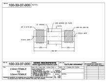 100-33-37-000:  2.4mm FEMALE TO 3.5mm FEMALE (BETWEEN-SERIES ADAPTER)