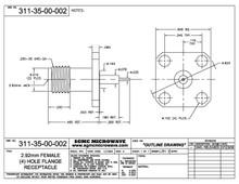 311-35-00-002:  2.92mm FEMALE (4) HOLE FLANGE RECEPTACLE