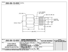 """350-36-12-000:  3.5mm MALE RECEPTACLE, SPARKPLUG (ACCEPTS .012"""" DIA PIN)"""