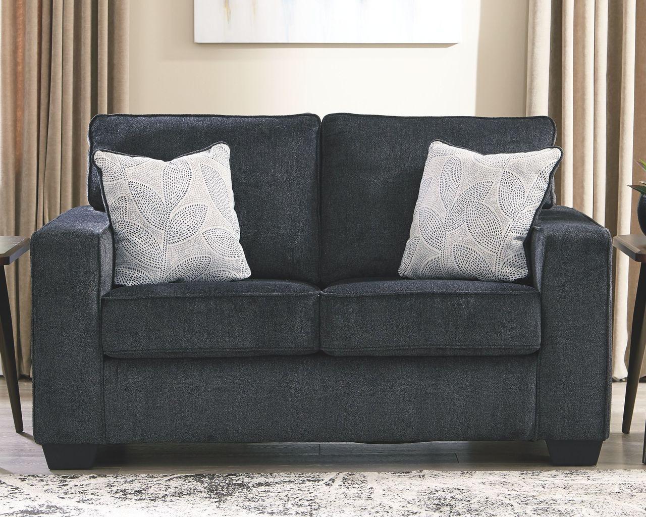 Brilliant Altari Slate Loveseat Machost Co Dining Chair Design Ideas Machostcouk