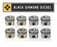 Black Diamond 03-10 Ford 6.0 Powerstroke Standard Piston and Ring Set