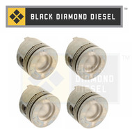 Black Diamond 04.5-05 Duramax 6.6 LLY .020 Oversize Left Side Pistons with Rings (4)