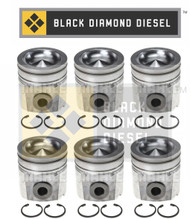 Black Diamond 03-04 Dodge 5.9 Cummins STD Piston Set